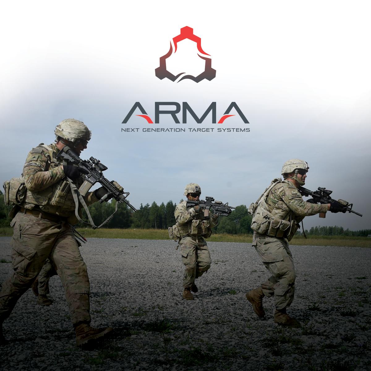 ARMA Next-Gen Target Systems logo design