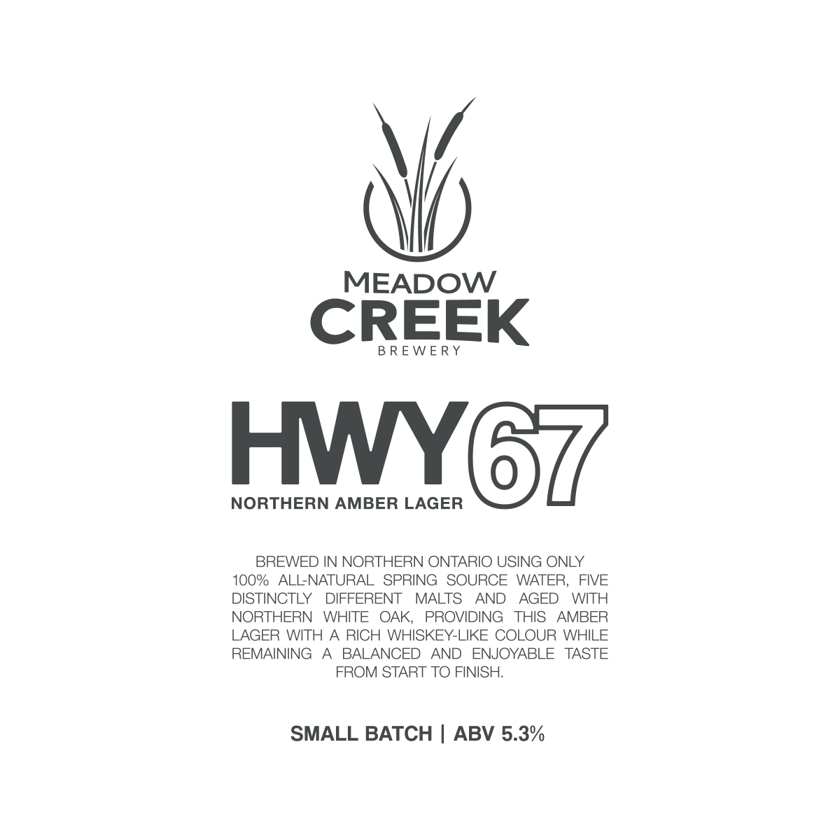 Meadow Creek Small Batch Brewery Label Design